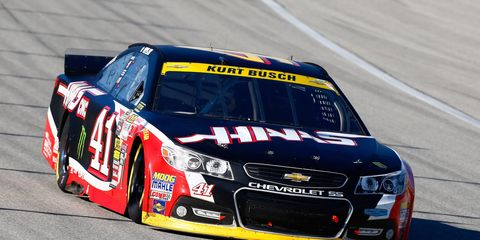 Kurt Busch made some mistakes early in the race on Sunday, but rebounded to finish eighth.