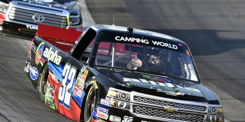 Ben Rhodes, shown last year during one of his four Camping World Truck Series races, will make his NASCAR Xfinity Series debut in Iowa. He'll skip his high school graduation to do it.