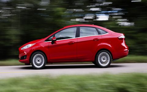 The five-speed manual gearbox is a great choice in the 2014 Ford Fiesta SE sedan.