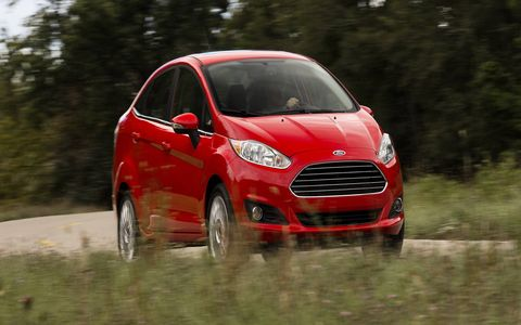The 2014 Ford Fiesta SE sedan is fun to wind up to redline.