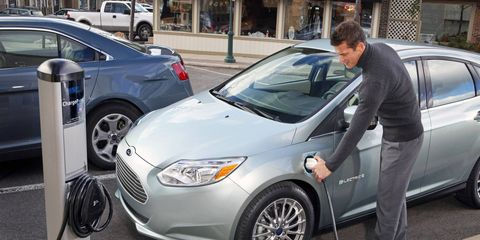 Ford's newest addition to its fleet of energy-saving cars is the Ford Focus Electric