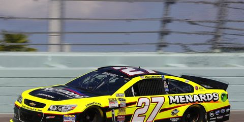 Paul Menard will start on the pole for the Sprint Unlimited. The race is 8 p.m. Saturday.