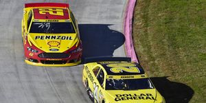 Matt Kenseth crashed rival Joey Logano at Martinsville on Sunday in the first race of the Eliminator Round