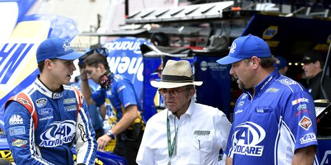 Want to win a custom helmet signed by racing legend Jack Roush? You could if you win the team's March Madness contest.