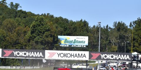 Action Express. left, wrapped up season championships in team and driver standings early in the Petit Le Mans on Saturday at Road Atlanta.