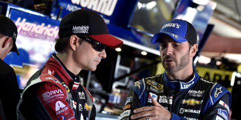 NASCAR champion Jimmie Johnson remembers a story about how he introduced himself to Jeff Gordon, only to find out that Gordon's team, Hendrick Motorsports, was thinking of hiring him.