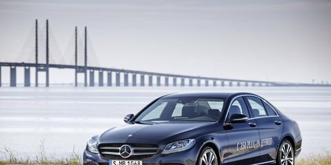 Mercedes Benz C350 Plug In Hybrid at the 2015 Detroit auto show