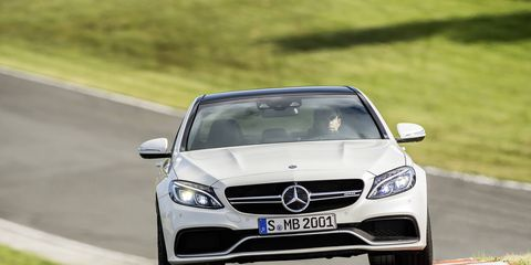 The Mercedes AMG C63 S has a 4.0-liter biturbo engine and is one of the most fuel-efficient eight-cylinder cars in the high-performance segment.