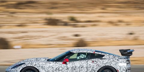 On paper, the ZR1 is insane: 755 hp from a new and unique LT5 engine torturing the rear tires with 715 lb ft of torque. On the track, even from the passenger seat, it's even more impressive. Can't wait till March or so when they finally let us drive one on our own.