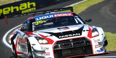 The winning Nissan GT-R Nismo at Bathurst was driven by Katsumasa Chiyo, Wolfgang Reip and Florian Strauss.