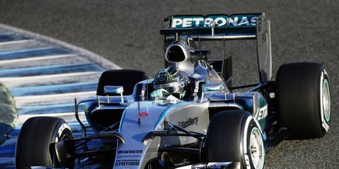 Check out pictures of the 2015 Mercedes Formula One car