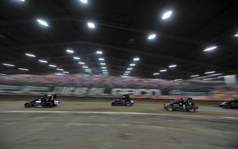 Action shots from this year's Chili Bowl Nationals at Tulsa, Okla.