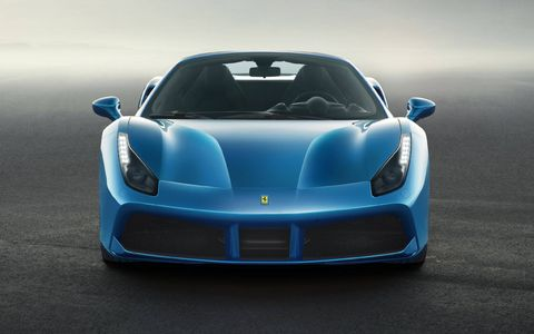 The Ferrari 488 Spider debuted in Frankfurt with a 660-hp V8 and a hard top that folds in just 14 seconds.