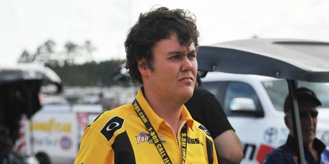Troy Coughlin Jr. is the son of two-time NHRA Pro Mod champ Troy Coughlin.