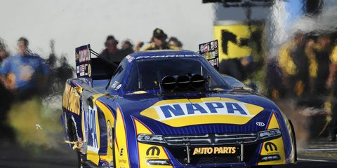 Ron Capps is going for his second consecutive NHRA Funny Car win this weekend at Englishtown, New Jersey.