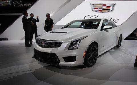 Cadillac ATS-V at the Los Angeles Auto Show