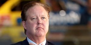 NASCAR CEO, on a leave of absence, pleads not guilty to DUI in a New York court on Friday.