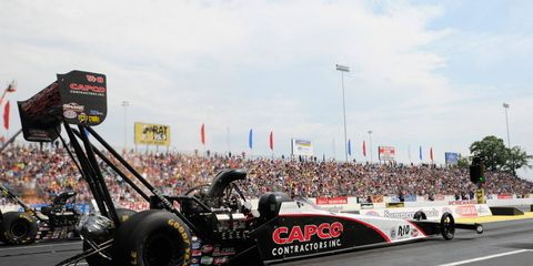 Steve Torrence earned his fifth top qualifying position of the NHRA season on Saturday at Englishtown, New Jersey.
