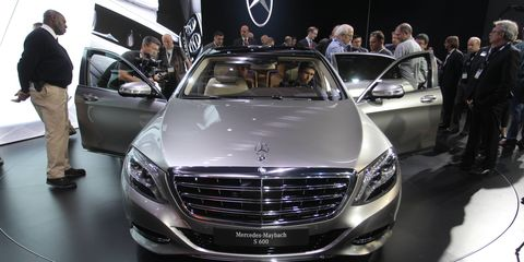 Mercedes Maybach S600 at the LA Auto show