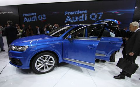 Audi rolled out its all-new, all-aluminum Q7 in Detroit.