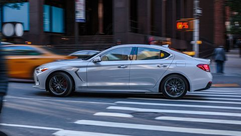 The 2019 Genesis G70 comes with either a 2.0-liter four (252 hp) or a 3.3-liter twin-turbocharged V6 making 365 hp.
