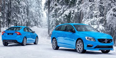 The S60 and V60 Polestar models pack 350 hp, good enough for sub-five-second runs to 60 mph.