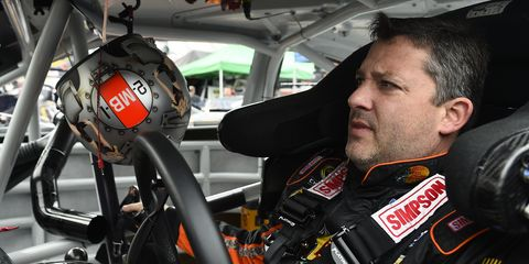 Tony Stewart was one of several NASCAR drivers who had car trouble in Saturday's practice.