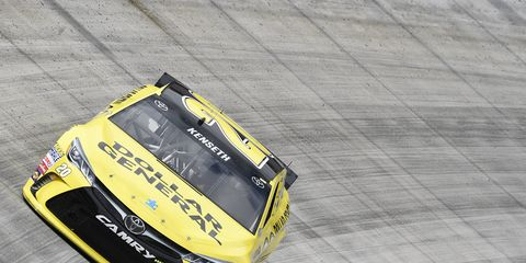 Matt Kenseth will start Sunday's NASCAR Sprint Cup race at Bristol from the pole.
