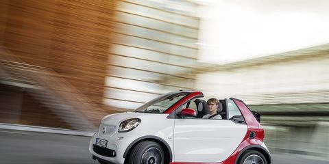 The Smart ForTwo Cabrio has what few expected -- open-air passengers.
