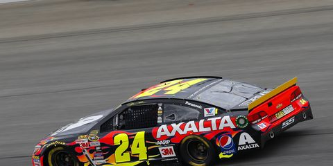 Jeff Gordon finished a solid 14th in the first Chase race of the season on Sunday.