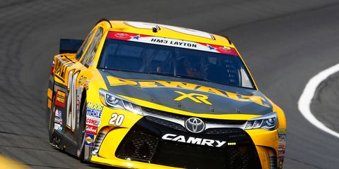 Matt Kenseth had a fast lap of 194.252 mph in qualifying at Charlotte Motor Speedway on Thursday.