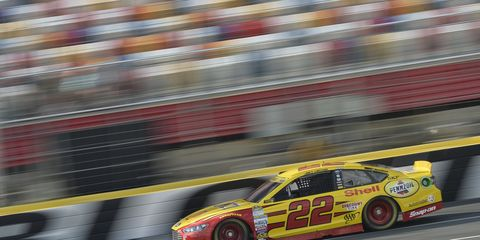 Joey Logano won Sunday in Charlotte and took the lead in the Chase standings.
