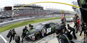 Kyle Busch, shown during the Xfinity race in Daytona earlier this year, has been sidelined most of the season with a broken leg. NASCAR chairman Brian France said if Busch is healthy enough to race this year, NASCAR may make him eligible for the Chase.