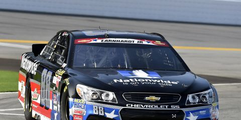 Dale Earnhardt Jr. is out to make it two wins in a row on Saturday night in Kentucky. He won the rain-delayed race at Daytona.