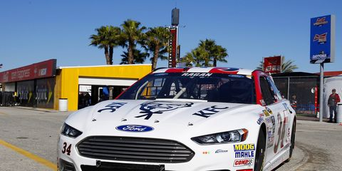 David Ragan finished 17th in the Daytona 500 for Front Row Motorsports.