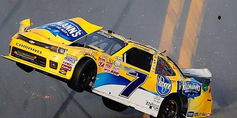 Regan Smith had a wild ride in Saturday's Xfinity Series race at Daytona International Speedway.