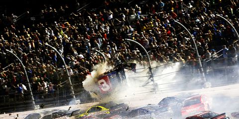 A man has filed a lawsuit against NASCAR for injuries he claims he received from flying debris from a 2015 wreck at Daytona International Speedway.