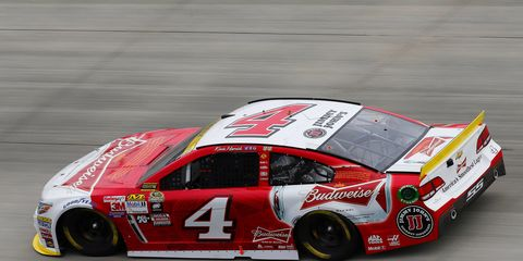 Kevin Harvick was under scrutiny last week for damaging the back of his car during post-race burnouts.