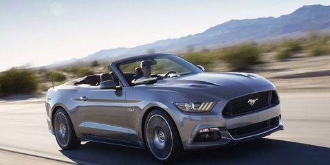 The 2015 Ford Mustang convertible has three engine choices.