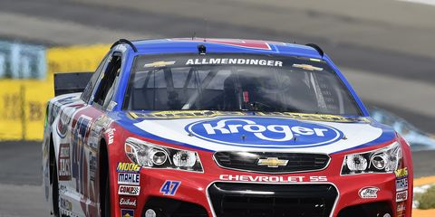 AJ Allmendinger will start Sunday's NASCAR race from the pole.