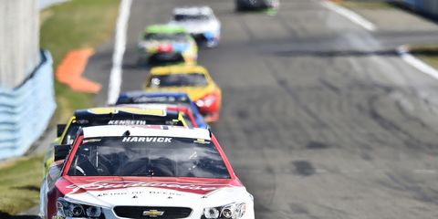 Although Kevin Harvick ran out of fuel just two turns away from a win, he remains optimistic.