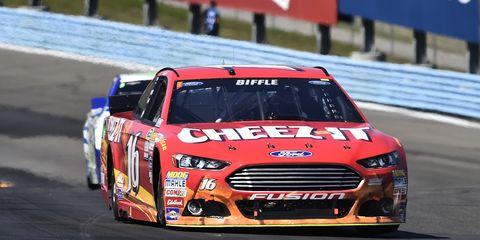 Greg Biffle is seeking his first win of the season on Sunday at Michigan International Speedway.