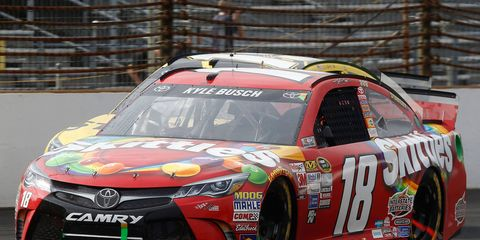 Kyle Busch rolled to his third consecutive NASCAR Sprint Cup Series victory on July 26 at the Indianapolis Motor Speedway.