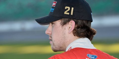 Ryan Blaney will start eighth in the NASCAR Sprint Cup Series race at Kansas on Sunday.
