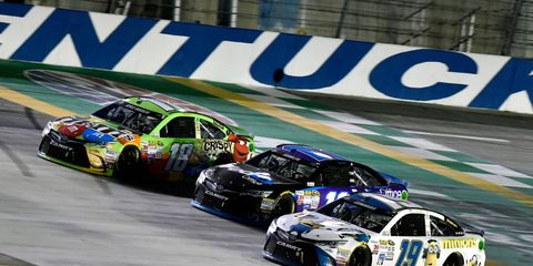 NASCAR tested the 2016 downforce package last season at Kentucky. The package reduces downforce by as much as 25 percent and makes the cars more of a challenge to the drivers.
