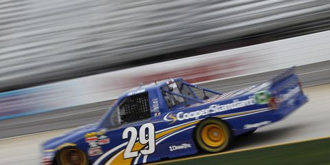 Joey Logano became the first Ford truck driver to win a NASCAR race since 2005 when he won in Martinsville on Saturday.