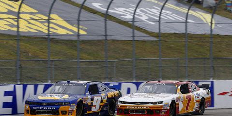 Teammates Chase Elliott and Regan Smith are making a last-ditch push to win a NASCAR Xfinity championship.