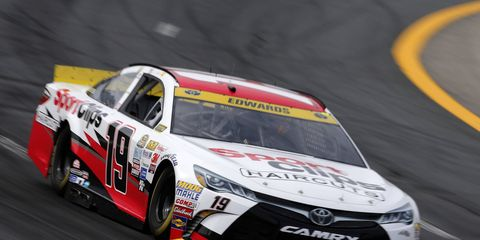 Carl Edwards won the pole Friday night for this weekend's NASCAR race in New Hampshire.
