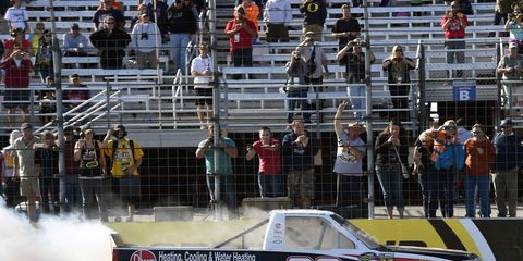Austin Dillon won Saturday's Camping World Truck Series race in New Hampshire.