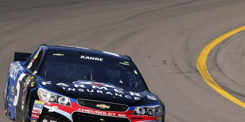 Kasey Kahne said adjusting the track bar from the cockpit of his car may have hurt his qualifying effort at Phoenix.